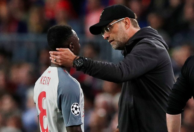 Naby Keita suffered a season-ending injury against Barcelona on Wednesday