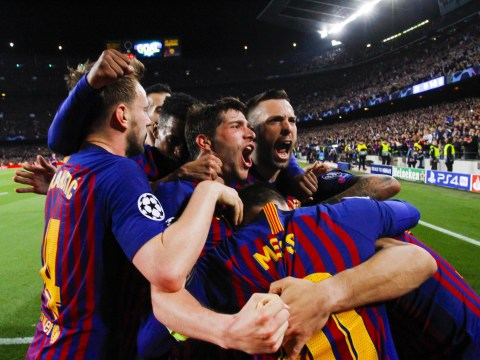 Arsene Wenger reacts to Liverpool's Champions League defeat to Barcelona