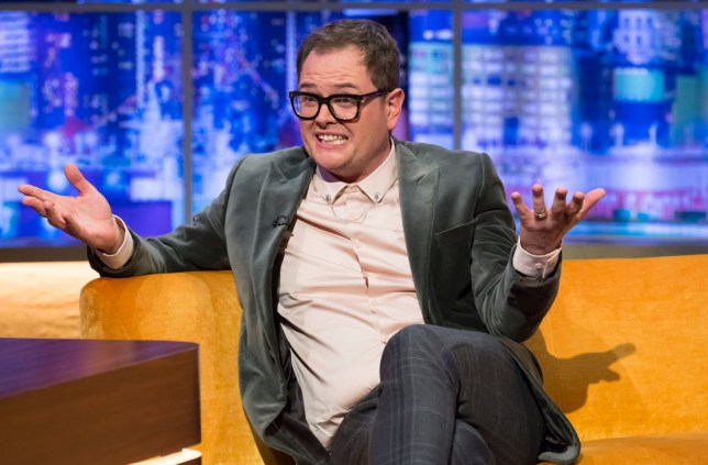 Mandatory Credit: Brian J Ritchie/Hotsauce Editorial Use Only. No Merchandising - STRICTLY EMBARGOED UNTIL 00.01 ON FRIDAY 3RD MAY 2019 Mandatory Credit: Photo by Brian J Ritchie/Hotsauce/REX (10226082bs) Alan Carr 'The Jonathan Ross Show' TV show, Series 14, Episode 10, London, UK - 04 May 2019