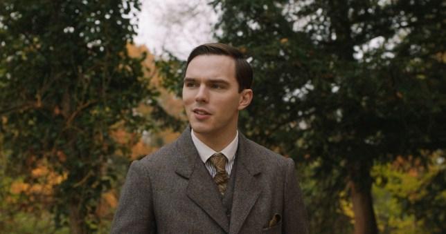 Nicholas Hoult as J.R.R. Tolkien