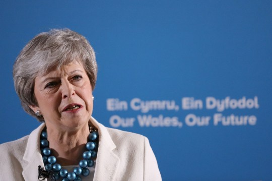Prime Minister Theresa May at the Welsh Conservative party conference at Llangollen Pavilion, Llangollen following the voting in the English council elections. PRESS ASSOCIATION Photo. Picture date: Friday May 3, 2019. Photo credit should read: Aaron Chown/PA Wire