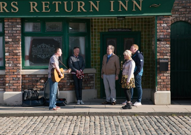 Kirk Sutherland (Andrew Whyment) prepares to leave Coronation Street