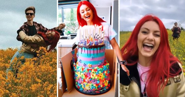 Joe Sugg celebrates Dianne Buswell's 30th