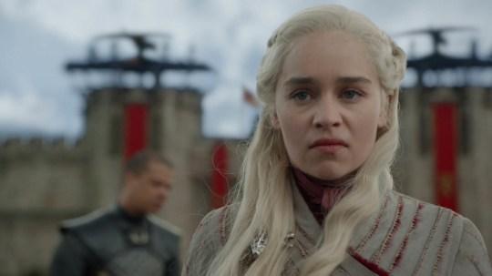 Emilia Clarke as Daenerys Targaryen in Game of Thrones