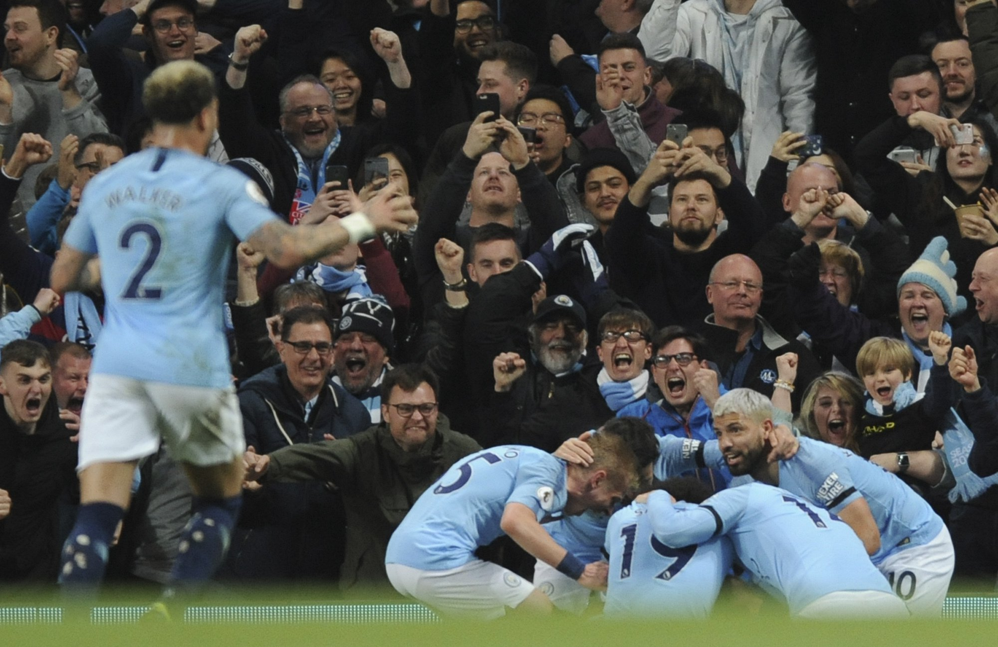 What Sergio Aguero told Vincent Kompany moments before stunning Leicester City winner