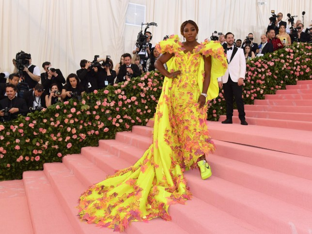 "Tennis player Serena Williams arrives for the 2019 Met Gala at the Metropolitan Museum of Art on May 6, 2019, in New York. - The Gala raises money for the Metropolitan Museum of Arts Costume Institute. The Gala's 2019 theme is Camp: Notes on Fashion"" inspired by Susan Sontag's 1964 essay ""Notes on Camp"". (Photo by ANGELA WEISS / AFP)ANGELA WEISS/AFP/Getty Images"