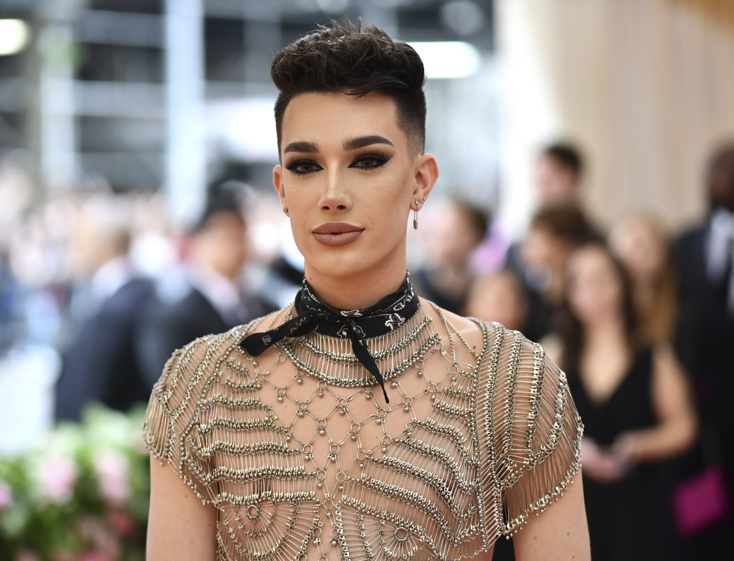 """James Charles attends The Metropolitan Museum of Art's Costume Institute benefit gala celebrating the opening of the """"Camp: Notes on Fashion"""" exhibition on Monday, May 6, 2019, in New York. (Photo by Charles Sykes/Invision/AP)"""