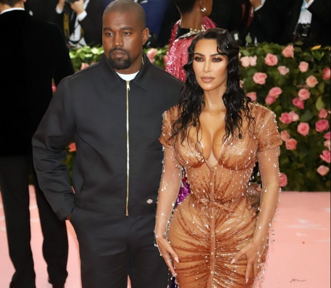 New York, NY - Celebrity arrivals strike a pose at The Met Gala Costume Institute Benefit held at the Metropolitan Museum of Art in NYC. Pictured: Kanye West, Kim Kardashian BACKGRID USA 6 MAY 2019 USA: +1 310 798 9111 / usasales@backgrid.com UK: +44 208 344 2007 / uksales@backgrid.com *UK Clients - Pictures Containing Children Please Pixelate Face Prior To Publication*