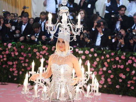 Katy Perry literally lights up the room as she dresses as an actual chandelier for Met Gala