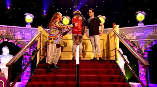 britain's got talent judge amanda holden on celebrity juice keith lemon itv