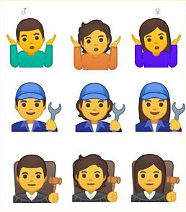 Google releases 53 gender-neutral emojis to challenge 'man
