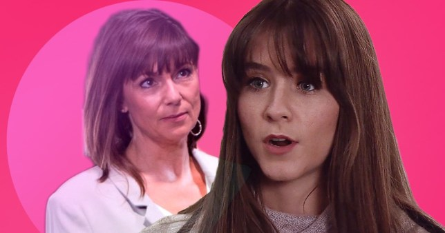 Sophie Webster and Paula Martin on Coronation Street