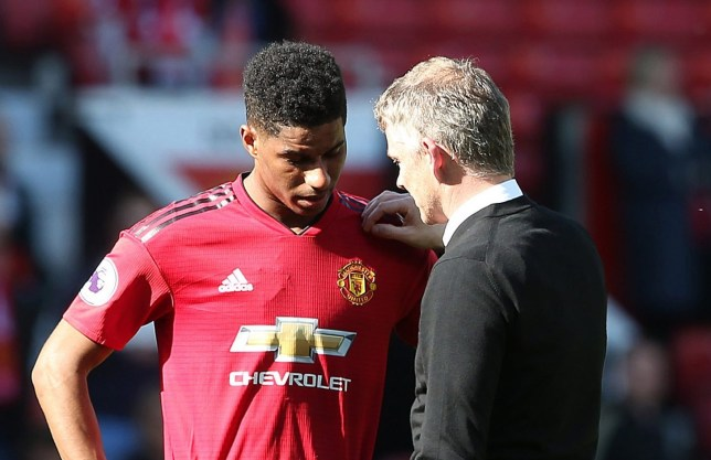 Ole Gunnar Solskjaer consoled Marcus Rashford after Manchester United's defeat to Cardiff City