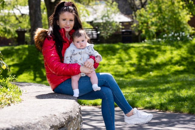Beth Martin, 18 with baby Maizie