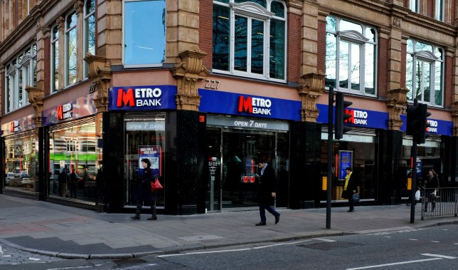 """File photo dated 09/02/15 of a branch of Metro Bank in Tottenham Court Road, London. Metro Bank has seen its shares come under pressure after the lender was forced to quash """"false rumours"""" on social media over its financial health and said plans to shore up its finances were well advanced. PRESS ASSOCIATION Photo. Issue date: Monday May 13, 2019. See PA story CITY MetroBank. Photo credit should read: Nick Ansell/PA Wire"""
