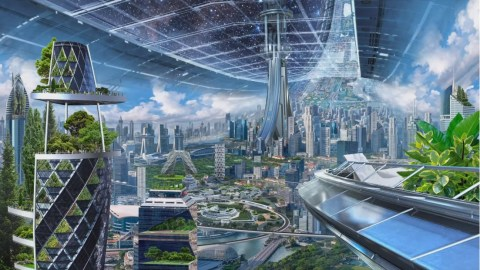 Image result for This is your future home in space, according to billionaire Jeff Bezos