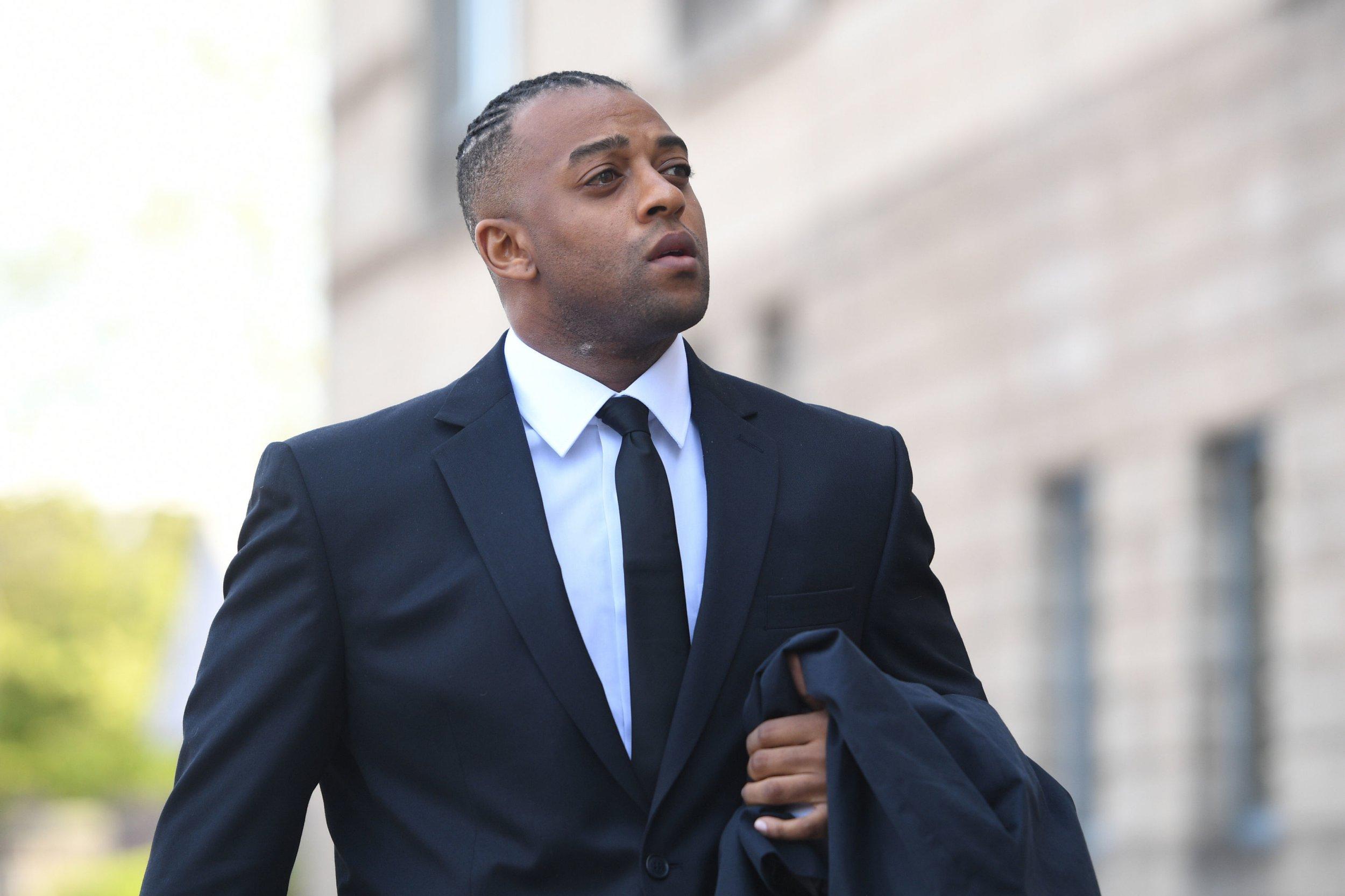 JLS star Oritse Williams arrives at Wolverhampton Crown Court ahead of rape trial