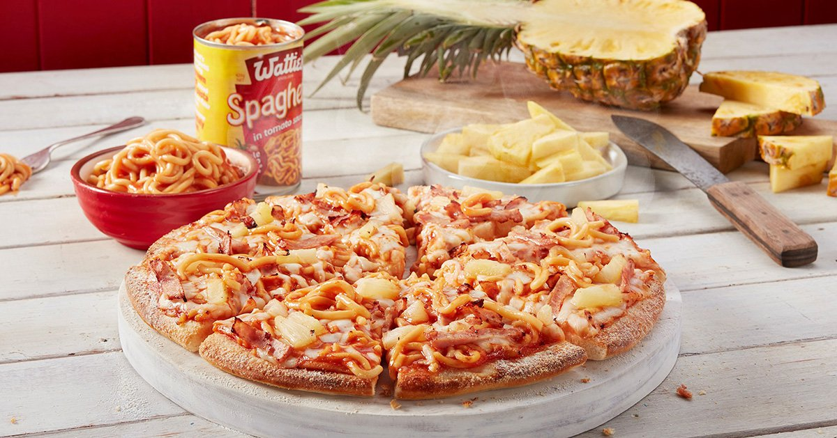 Domino's New Zealand has launched a pineapple and tinned spaghetti pizza