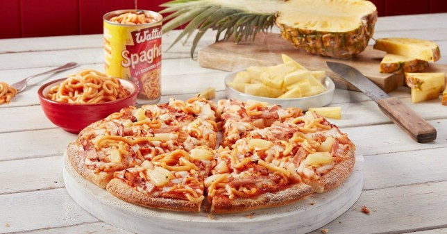 Domino's has launched a pineapple and spaghetti pizza
