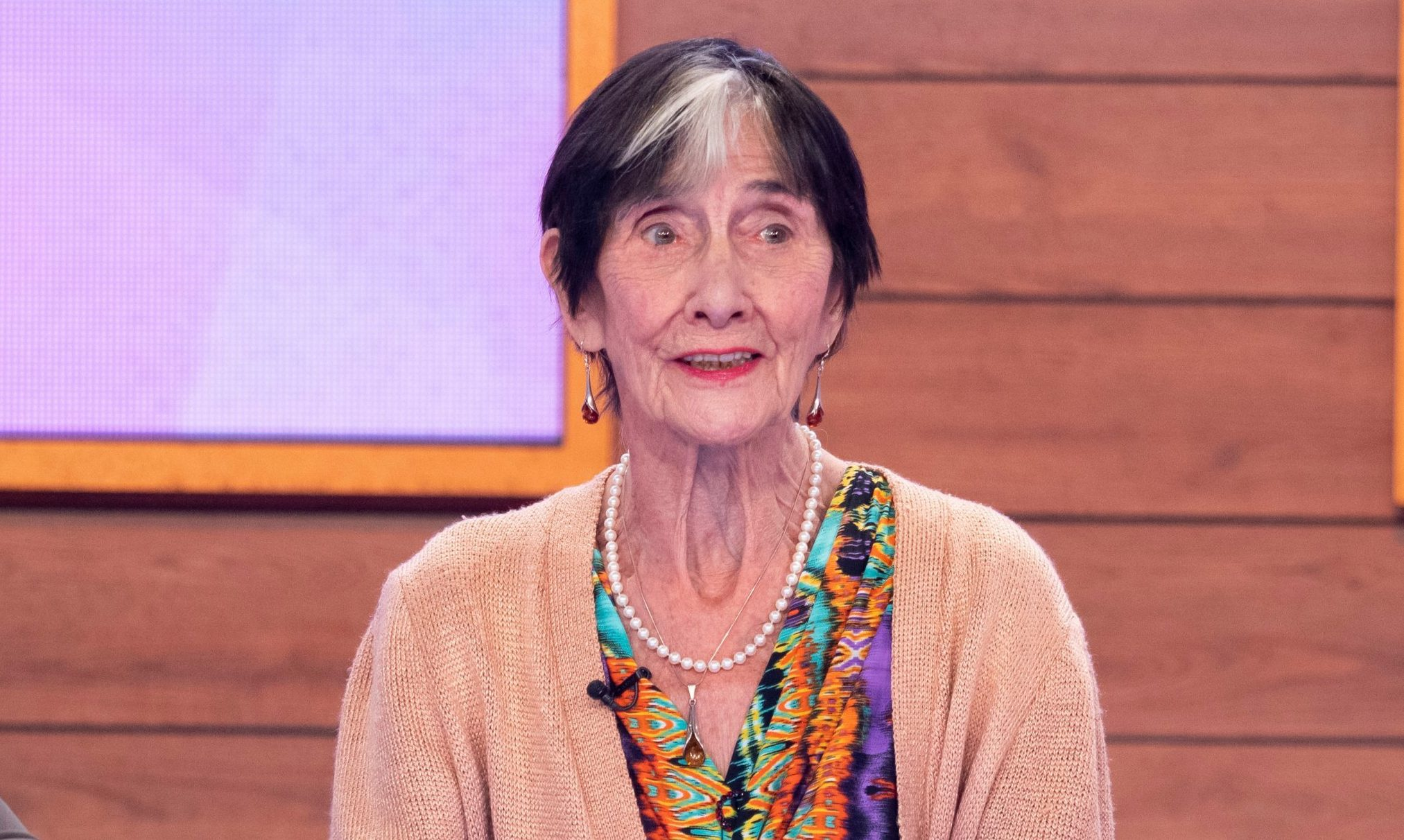 Editorial use only Mandatory Credit: Photo by Ken McKay/ITV/REX (10236804m) June Brown 'Loose Women' TV show, London, UK - 14 May 2019 GUEST CHAT: SOAP ROYALTY JUNE BROWN She?s a soap veteran, a national treasure and an EastEnders icon - the legendary June Brown joins us to talk about taking part in the ITV series 'Hard to Please: OAPS', as well as telling us about playing one of our best-loved soap characters Dot Cotton for more than three decades, her increasing struggles with poor eyesight and how she almost had a night out on the tiles with Lady Gaga.