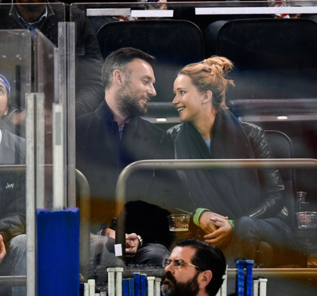 Mandatory Credit: Photo by JD Images/REX/Shutterstock (9962058f) Cooke Maroney and Jennifer Lawrence Celebrities at New York Rangers v Buffalo Sabres, NHL ice hockey match, Madison Square Garden, New York, USA - 04 Nov 2018