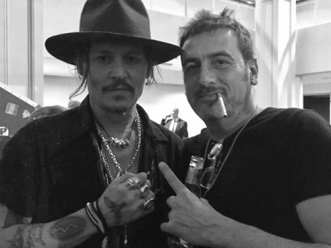 Oh just Coronation Street's Peter Barlow casually drinking with Johnny Depp