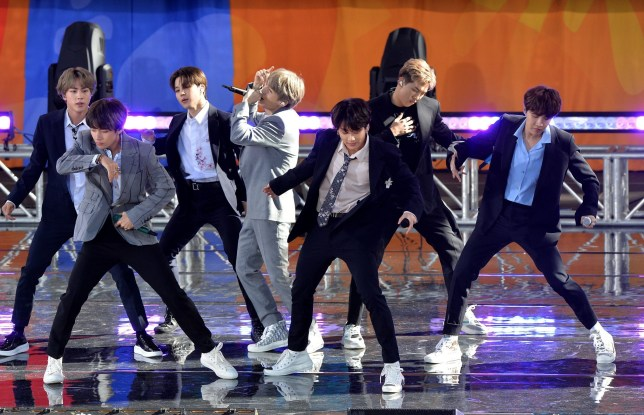 BTS perform live on Good Morning America in New York on 15 May 2019