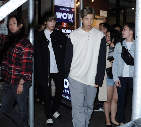 New photos of BTS in New York after performing Boy With Luv on