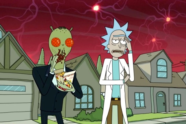Rick And Morty - E4 Adult animated US comedy. At its centre is mad scientist Rick (left) and his goofy grandson, Morty. It?s co-created by Dan Harmon. Copyright: CHANNEL FOUR