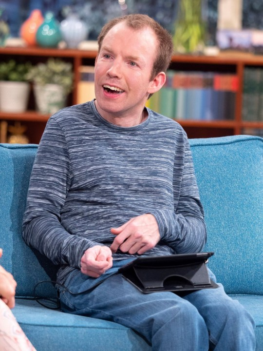 Editorial use only Mandatory Credit: Photo by Ken McKay/ITV/REX (10238490f) Lee Ridley aka Lost Voice Guy 'This Morning' TV show, London, UK - 16 May 2019 ONE YEAR AFTER BGT: WHAT?S LIFE LIKE NOW FOR ?LOST VOICE GUY?? YHe?s the reigning champion of ?Britain?s Got Talent?, performing in front of The Duke and Duchess of Sussex at the Royal Variety Show. One year later, Lee Ridley AKA Lost Voice Guy reveals how his life has changed as he releases his book ?I?m Only In It For the Parking? as well as giving us his predictions for this year?s BGT winner.