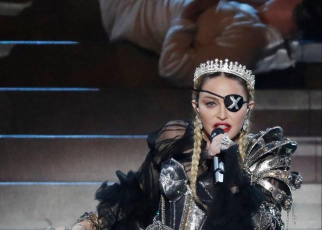 Madonna performing at Eurovision