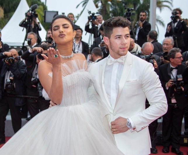 "Actress Priyanka Chopra and her husband Nick Jonas attend the screening of ""Les Plus Belles Annees D'Une Vie"" during the 72nd annual Cannes Film Festival on May 18, 2019 in Cannes, France. 18 May 2019 Pictured: Actress Priyanka Chopra and her husband Nick Jonas. Photo credit: KCS Presse / MEGA TheMegaAgency.com +1 888 505 6342"