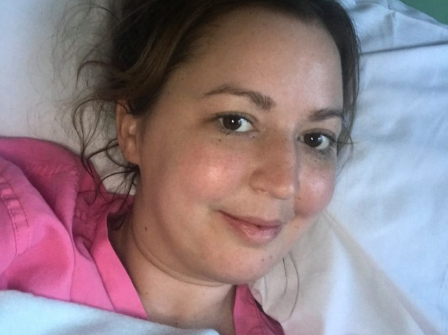 Sophie Mason in hospital