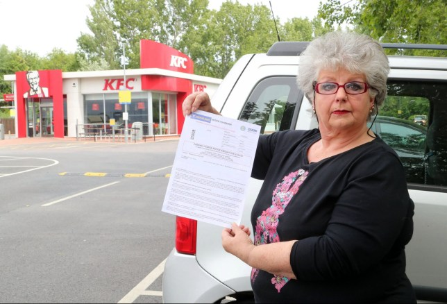 BNPS.co.uk (01202 558833) Pic: BournemouthEcho/BNPS A grandmother was fined ??100 for staying in a fast food restaurant car park for 18 minutes too long. Maxine Horton, of Poole, took her grandchildren to Kentucky Fried Chicken at the Wessex Gate Retail Park in Poole, Dorset, for a treat. The youngsters had just recovered from scarlet fever, and the outing was one of the first times they'd been able to leave the house. But weeks later she received a parking penalty from Euro Car Parks stating she spent one hour and 18 minutes in the retail park's car park, in contravention of the one hour limit.