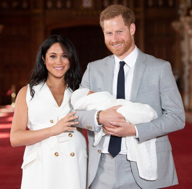 The Duke and Duchess of Sussex with their royal baby Archie
