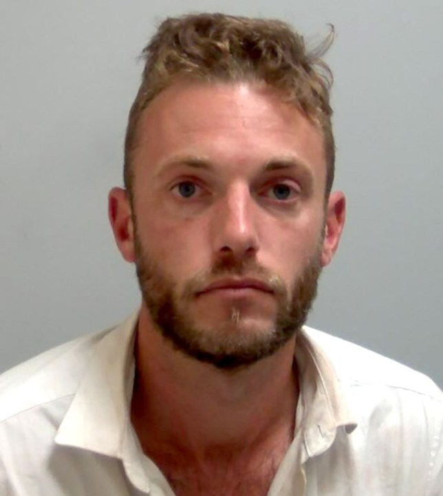 A man masturbated in front of a stranger in the street hours after he strangled his girlfriend, only stopping the brutal attack when three Good Samaritans ripped a window from its frame to intervene.Caption: Thomas Crux strangled his girlfriend before masturbating in public in front of a stranger.