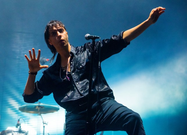 LONDON, ENGLAND - MAY 25: Julian Casablancas of The Strokes performs during the All Points East Festival at Victoria Park on May 25, 2019 in London, England. (Photo by Matthew Baker/Getty Images)