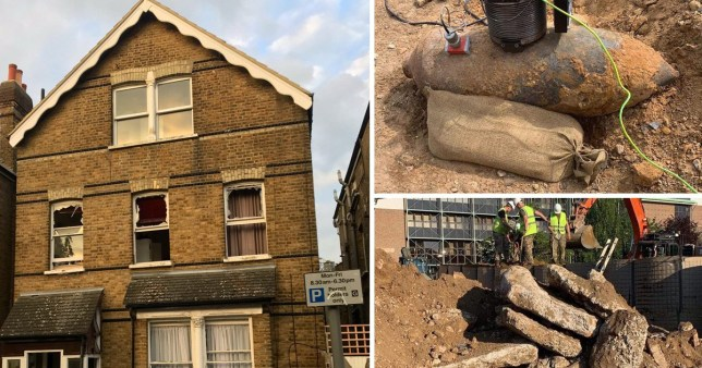 Controlled explosion of WWII bomb in London street leaves windows smashed and cars wrecked