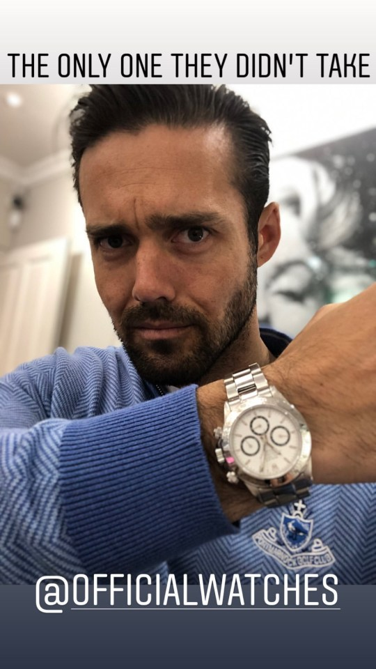 METRO GRAB INSTA Spencer Matthews forced to hide in safe as watch shop is ???smashed to pieces??? by thieves https://www.instagram.com/stories/spencermatthews/