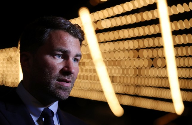 Eddie Hearn during the undercard press conference at Madison Square Garden, New York. PRESS ASSOCIATION Photo. Picture date: Wednesday May 29, 2019. See PA story BOXING New York. Photo credit should read: Nick Potts/PA Wire