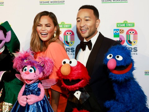 Chrissy Teigen and John Legend leave the kids at home to attend Sesame Street charity gala