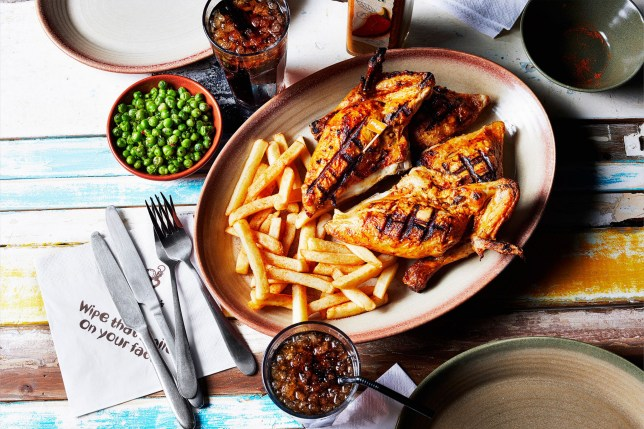 A picture of an actual Nando's meal