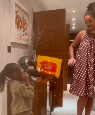 Rihanna is the proud owner of a Sainsbury's reusable bag (Picture: Instagram/Rihanna)