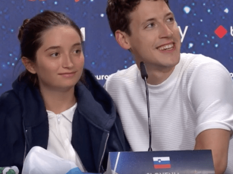 Slovenia's Zala and Gašper don't seem too happy to be at Eurovision as they're blasted for 'rude' interview