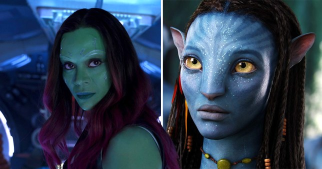 Avengers Endgame Zoe Saldana Stars In Top Two Highest