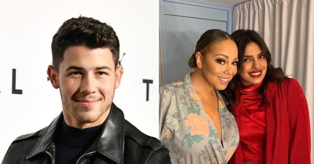 Mariah Carey hangs with Priyanka Chopra backstage at London show