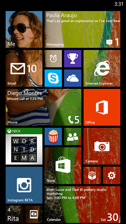 A screenshot of the Windows 8.1 start screen (Picture: Microsoft)