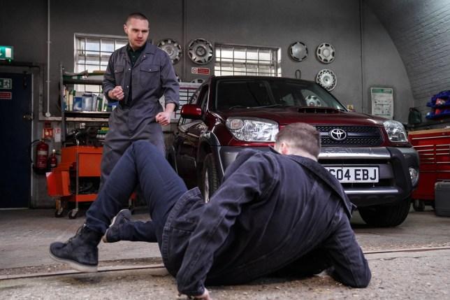 Keanu punches Ben in EastEnders
