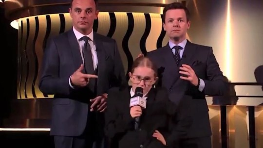 ant and dec and lil icons girl, britain's got talent semi-finals