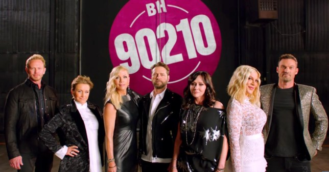 Beverly Hills 90210 cast pictured amid reboot